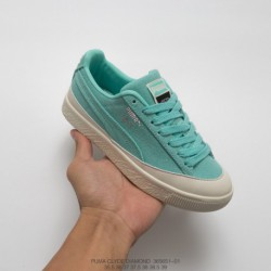 651-01 American West Coast Trends Brand Crossover Diamond Supply Co. X Puma Clyde Vintage All-Match skate shoes tiffany blue of