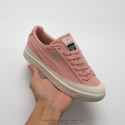 651-03 American West Coast Trends Brand Crossover Diamond Supply Co. X Puma Clyde Vintage All-Match skate shoes coral powder of