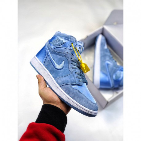 big sale 0c596 57985 Air Jordan 1 Satin Royal,Air Jordan 1 Royal Satin,Jordan/ Air Jordan 1SOH  collectionAJ1 Beauty Satin six-color commercially ava