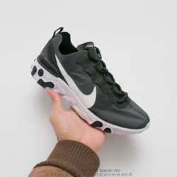 Bq6166-003 Officially Released Rhea Nike React Element 55 Short Version Lightweight Opaque Element All-Match jogging shoes clot