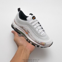 733-101 nike air max 97 all-match Vintage Air Jogging Shoes White Flower Butterfly