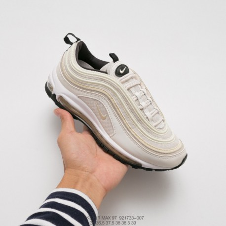 733-007 Nike Womens Air Leisure Shoe AIR MAX 97 Sportshoes Off-White blac